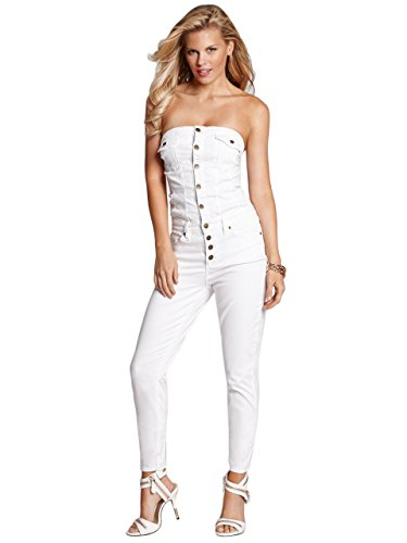 Collection White Denim Jumpsuit Pictures - Reikian