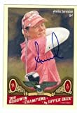 Annika Sorenstam autographed trading card (LPGA Ladies Golf Star) 2011 Upper Deck Goodwins Champions #31