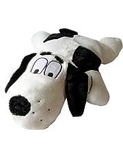 SnuggleSafe Microwave Heatpad Cover Dog Bonzo, Black/White