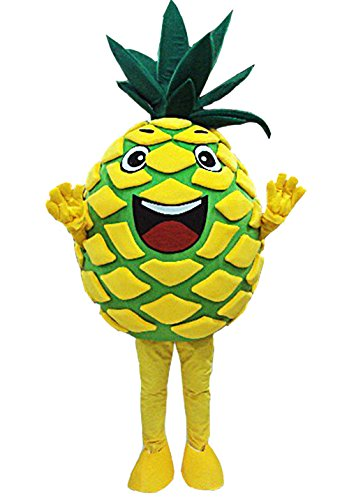 Pineapple Mascot Costume Pineapple Costume Adult Halloween Fancy Dress -  Huiyankej