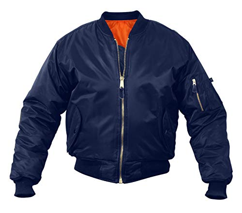 Rothco Kids Ma-1 Flight Jacket-Navy Blue, M Size ()