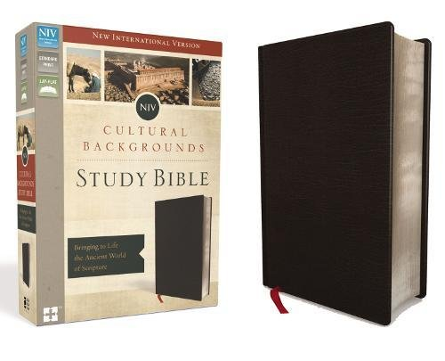 NIV, Cultural Backgrounds Study Bible, Bonded Leather, Black, Red Letter Edition: Bringing to Life the Ancient World of Scripture