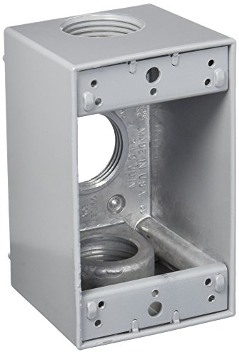 Greenfield DB43PS Series Weatherproof Electrical Outlet Box, Gray