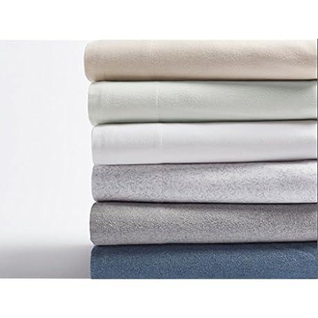 Coyuchi Organic Cloud Brushed Flannel Duvet Cover King Blue Heather