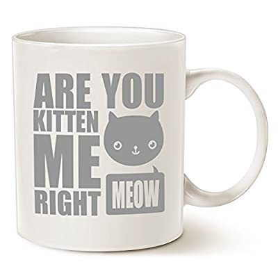 Cat Fan related Products MAUAG Funny Cat Coffee Mugs, Fun Are You Kitten Me Right Meow... [tag]