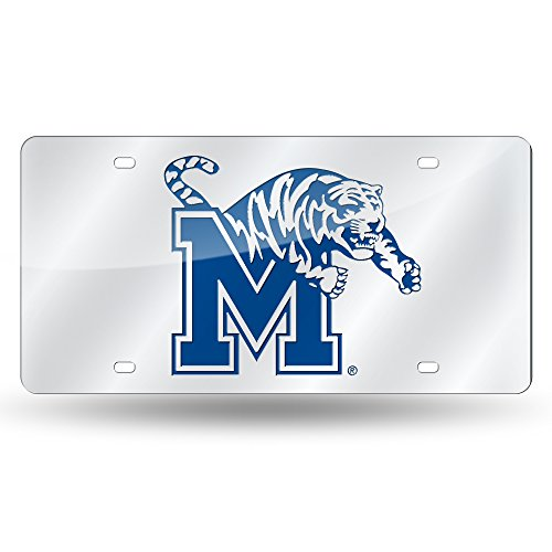 Rico Industries NCAA Memphis Tigers Laser Inlaid Metal License Plate Tag, - Tigers Auto Memphis