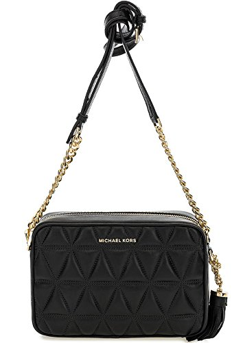 0515e0d54 MICHAEL by Michael Kors Ginny Black Quilted Leather Camera Bag Black one  size