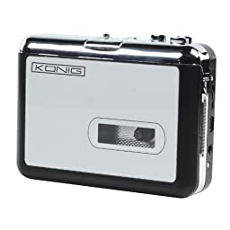 Konig Cassette to MP3 Converter USB Powered Silver [HAV-CA10]