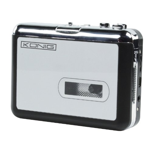 Konig Cassette to MP3 Converter USB Powered Silver [HAV-CA10] by Konig