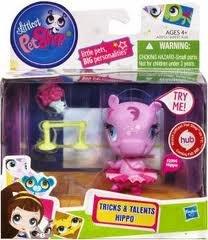 Littlest Pet Shop Tricks Talents Figure Hippo