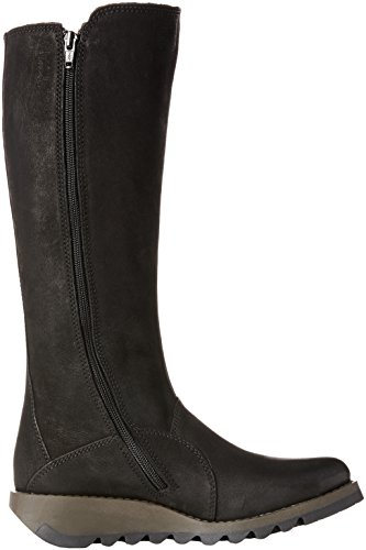 Black Women's London 001 Black Saho854fly Boots Fly q0dX5q