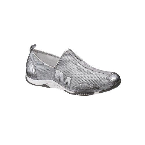Silver Women's Sneaker Merrell Leather Barrado dPTwqtxtS