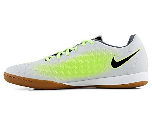 Nike Magista Onda Ii Mens Indoor / Gerechtelijke Voetbalschoen Pure Platinum / Zwart / Ghost Groen
