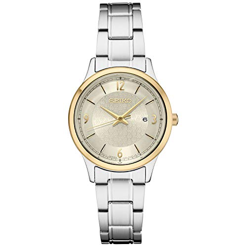 Seiko Women's Japanese Quartz Stainless Steel Strap, Silver, 0 Casual Watch (Model: SXDH04)