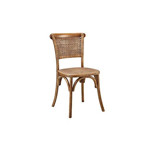 World Modern Design Churchill Dining Chair, Set of 2, Light Brown