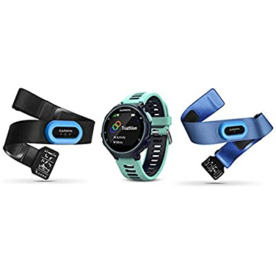 Beach Camera Garmin Forerunner 735XT GPS Running Watch Tri-Bundle with Midnight Blue Band (Midnight Blue)