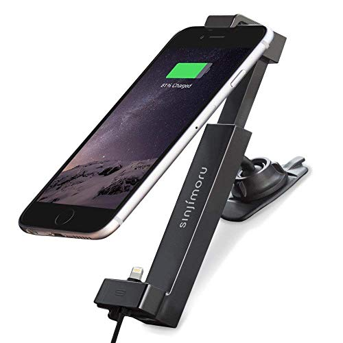 Sinjimoru iPhone Car Dock, Car Cradle/Car Charging Mount for iPhone 7/7 Plus / 6/6 Plus/SE / 5 Including Lightning Cable for Charging. Sinji Car Kit, iPhone Basic Package. ()