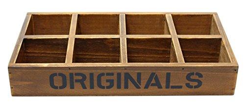 JustNile Wooden Desktop Storage Holder - Flat 8 Slot