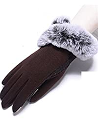 The New Autumn And Winter Ms Cloth Gloves Cycle Warm Touch Screen Not Fall Down,2
