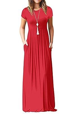 Kool Classic Women's Short Sleeve Long Swing Dress with Pockets