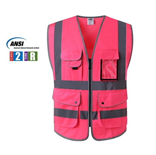 Class 2 High Vis Zipper Safety Vest ANSI/ISEA
