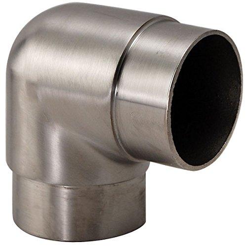 "UPC 845033039500, Flush Elbow Fitting 90 Degree - Brushed Stainless Steel - 2"" OD"