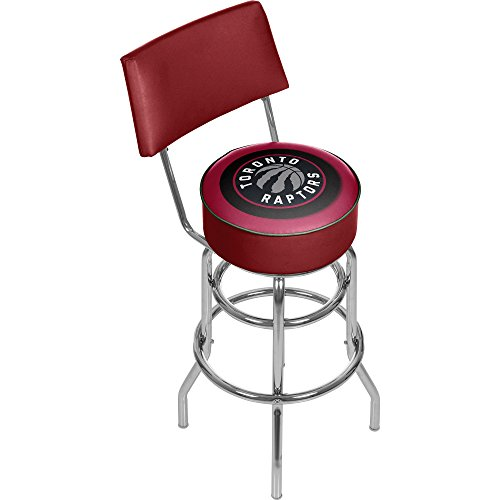 (NBA Toronto Raptors Padded Swivel Bar Stool with Back)
