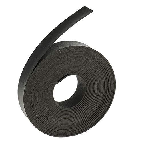 MOPOLIS 5 Meters 2cm Leather Strap Strips Leather Craft Belt Bag Handle for DIY Craft   Colour - Black