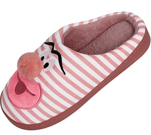 Men's Two-Tone Memory Foam Slipper Dark pink 14In by AONTUS