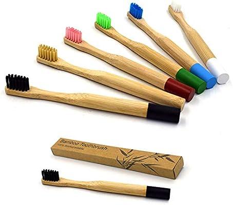 Cepillo de dientes de bambú, respetuoso con el medio ambiente y ...