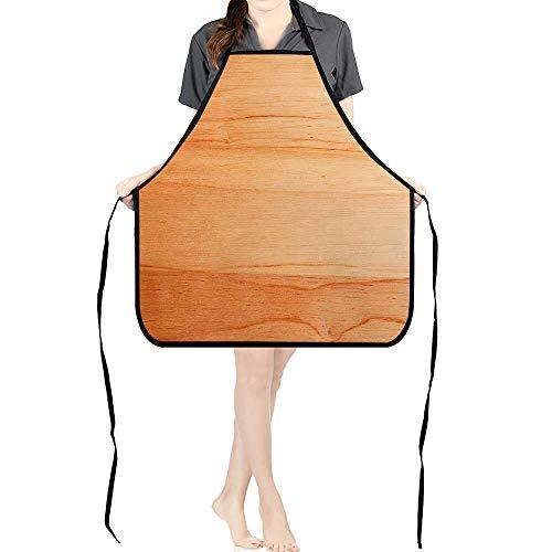 Jiahong Pan Professional Bib Aprons Old Wood Wallpaper Texture Background Kitchen ApronK26.6xG27.6xB10.2