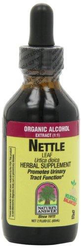 Feuille d'ortie de réponse de la nature avec de l'alcool bio, 2-onces