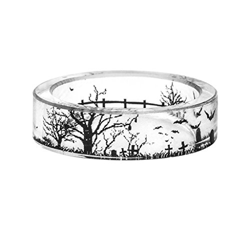 Women Ring Of Trees Within a Scenario Of Transparent Resin Ring Bat Finger...