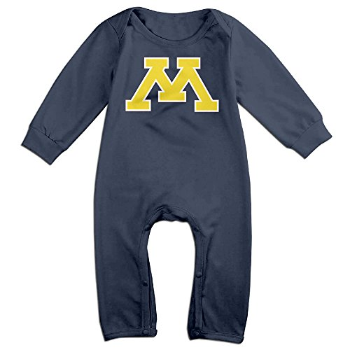 [JJVAT University Of Minnesota Long Sleeve Outfits For 6-24 Months Toddler Size 12 Months Navy] (Maleficent Toddler Costumes)