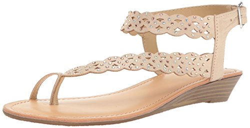 Unlisted Women's Color Chain Wedge Sandal, Champagne, 7 M US (Champagne Wedge Sandals)