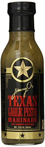 - Jimmy O's Texas Marinade and Pasta Sauce, Garlic Pesto, 12 Ounce