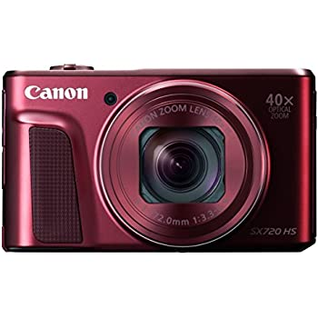 Canon digital camera PowerShot SX720 HS optical 40x zoom PSSX720HSRE (Red) [International Version, No Warranty]