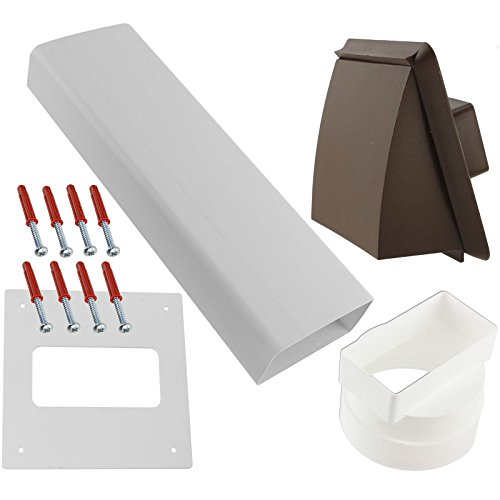 Spares2go External Wall Vent Cowl Kit For Amica Vented Tumble Dryers (Non Vented Dryer)