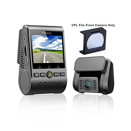 VIOFO A129 Duo 2-Channel Full HD 1080p 30fps Car Dash Camera with GPS Logger & CPL Lens Filter