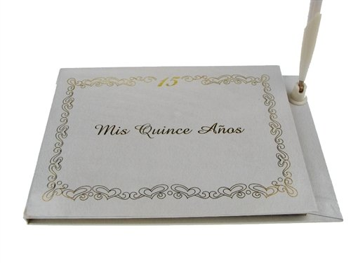 (Mis Quince Anos Spanish Sweet 15 Signature Guest Book Reception Party Keepsake)