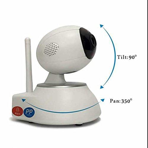 720p HD Überwachungskamera Zwei Wege Video,PIR Nachtsichtmodus,Remote-Wiedergabe,bidirektionaler Sound,Aufnahme funktion,Zoom und Fokus