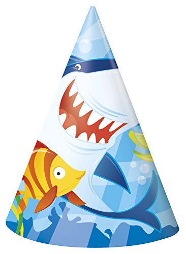 Ocean Shark Party Hats, 8ct ()