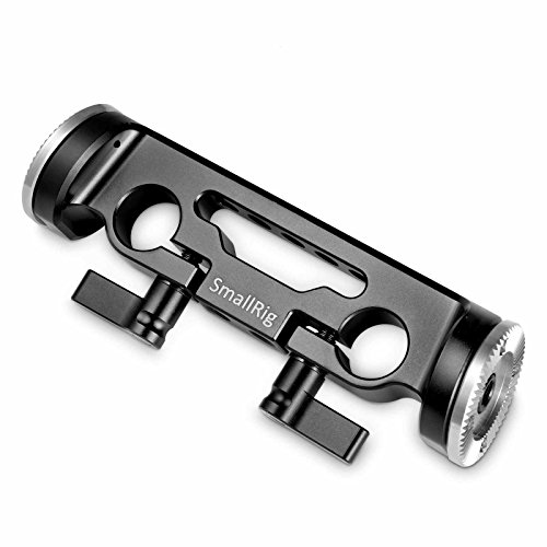 SMALLRIG Camera Extension Arm Connector 15mm Dual Rod Clamp with Rosette (M6, 31.8mm) for Camera Shoulder Support -1898