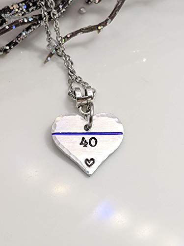 SALE - Thin Blue Line with Badge Number