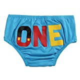 Cake Smash Bloomers Baby Boys Girls 1st Birthday Diaper Cover ONE Mouse Pants Summer Elastic Waist Shorts Cotton Nappy Bottoms Trousers Toddler Infant Halloween Photo Prop Party Clothes Blue 12-18M