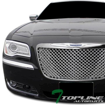 Chrome Luxury Style Mesh Front Hood Bumper Grill Grille Chrysler 300 300C