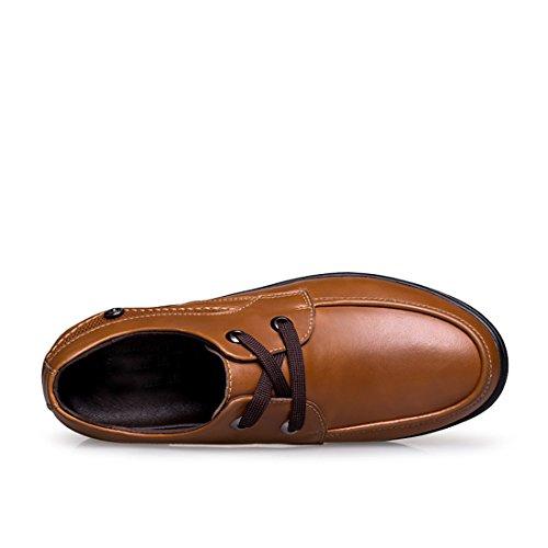 Minitoo LHUS-A432005080, Chaussures de Ville à Lacets Pour Homme - Marron - Marron, 39