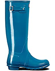 Womens Hunter Original Tall Gloss Waterproof Wellington Winter Rain Boot