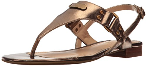 Lauren Ralph Lauren Women's Valinda, Gold, 9 B US (Ralph Lauren Gold Sandals)