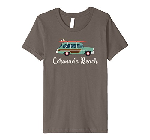 Kids Coronado Beach Surf Wagon Graphic T-Shirt 4 - Kids For Coronado